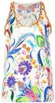 Etro floral print vest top
