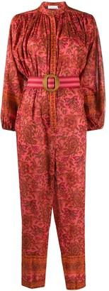 Zimmermann Edie paisley-print cotton jumpsuit