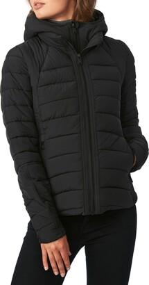 Bernardo Hooded Quilted Water Repellent Jacket
