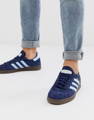 adidas handball spezial sneakers in navy with gum sole