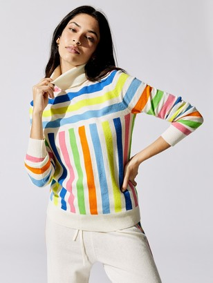 Chinti and Parker Graphic Stripe Sweater