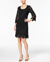 Alfani Petite Crochet Shift Dress, Only at Macy's