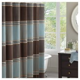 Nobrand No Brand Bradley Striped Jacquard Shower Curtain - Brown/Blue