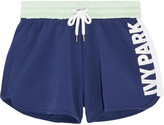 Ivy Park Color-block Cotton-jersey Shorts - Navy