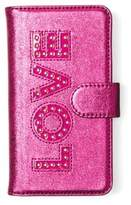 MICHAEL Michael Kors Electronic Novelty Folio Tab Leather iPhone 7 Case
