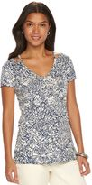 Chaps Women's Printed High-Low Top