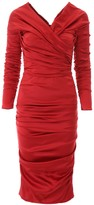 Dolce & Gabbana Draped Off The Shoulder Midi Dress