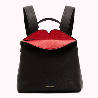 Lulu Guinness Women's Peekaboo Lip Valentina Backpack - Black/Red