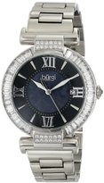 Burgi Women's BUR082SS Analog Display Swiss Quartz Silver Watch