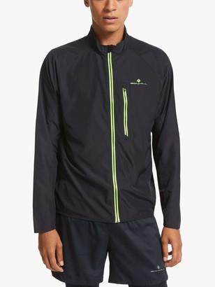 Ronhill Core Men's Water Resistant Running Jacket, Black/Fluo Yelow