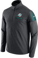 Nike Men's Miami Dolphins Elite Coaches Quarter-Zip Pullover