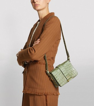Max Mara Croc-Embossed Charl S Cross-Body Bag