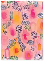 Americanflat Water Colour Patterns Print Art, Print Only