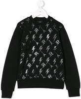 John Richmond Kids metallic logo print sweatshirt