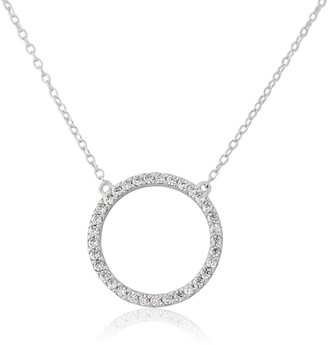 Auree Jewellery Chora Circle Sterling Silver & Cubic Zirconia Necklace