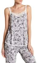 PJ Salvage Print & Lace V-Neck Tank Top