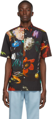 Paul Smith SSENSE Exclusive Black Floral Short Sleeve Shirt
