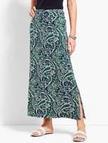 Talbots Paisley Print Maxi Skirt