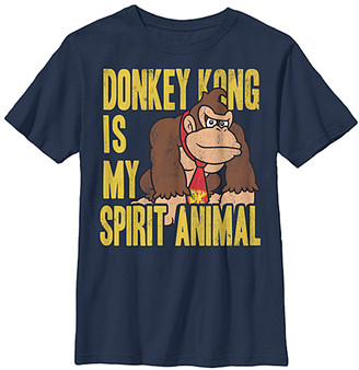 Super Mario Bros. Boys' Tee Shirts NAVY - Donkey Kong 'Is My Spirit Animal' Tee - Boys