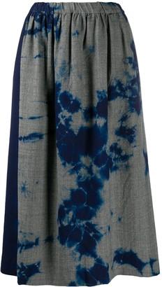 Suzusan Tie-Dye Midi Print Skirt