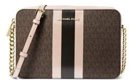 MICHAEL Michael Kors Jet Set Logo Stripe Crossbody Bag