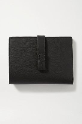 Loewe Vertical Small Textured-leather Wallet - Black
