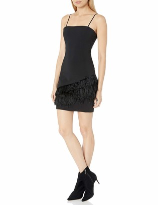 Parker Women's Connie Sleeveless Feather Trimmed Cocktail Dress