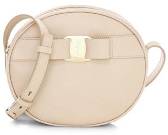 Salvatore Ferragamo Vara Circle Leather Crossbody Bag
