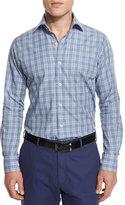 Peter Millar Glen-Plaid Long-Sleeve Sport Shirt