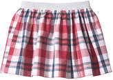 Joe Fresh Kid Girls' Madras Print Skirt, Pink (Size XL)