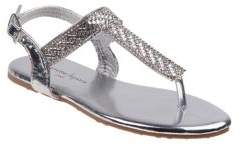 Nanette Lepore Girl's and Little Girl's Embellished Faux Leather Thong Sandals
