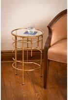 "Cooper Classics ""Waldron"" Goldtone and Glass Side Table"