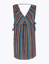 Marks and Spencer Cotton Rich Striped Mini Beach Dress