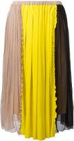 No.21 colour block pleated skirt - women - Silk/Acetate - 42