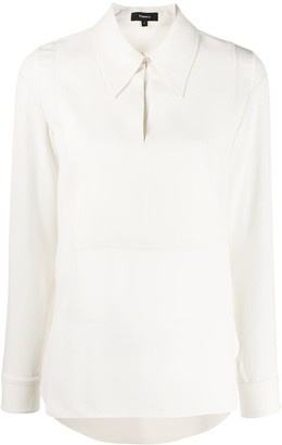 Theory Collared Cut-Out Blouse