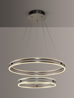John Lewis & Partners Double Wheel LED Ceiling Light, Matt Nickel
