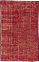 Ecarpetgallery Hand-knotted Color Transition Red Transitional 5' x 8' 100% Wool kitchen dining room area rug