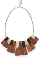 Warehouse Wood Fan Necklace