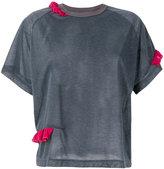Kolor round neck T-shirt - women - Polyester - 2