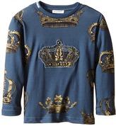 Dolce & Gabbana Crown Print Long Sleeve T-Shirt (Toddler/Little Kids)