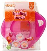 Vital Baby Baby's 1st Feeding Bowls, Pink, 3 Pack by
