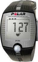 Polar FT1 Heart-Rate Monitor Chronograph Black Strap Watch