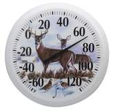 Taylor Precision Products Springfield Outdoor Thermometer, 13.25-Inch, Winter Deer