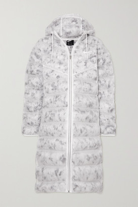 Nike Printed Quilted Ripstop Parka - White