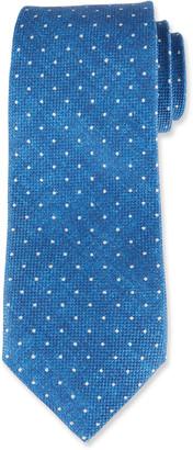 Isaia Pindot Cotton/Silk Tie