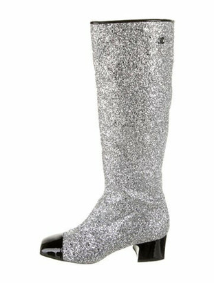 Chanel 2017 Fantasy Riding Boots Silver