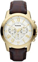 Fossil FS4767 - Men's Wristwatch, Leather, color:Brown