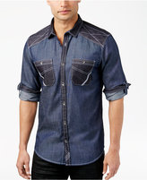 INC International Concepts Men's Colorblocked Chambray Shirt, Only at Macy's