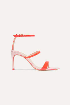 Sophia Webster Rosalind Two-tone Patent-leather Sandals - Orange