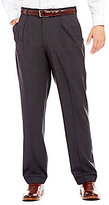 Roundtree & Yorke Travel Smart Ultimate Comfort Classic Pleated Front Non-Iron Plaid Dress Pants